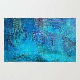 Guitar Study Blues Rug