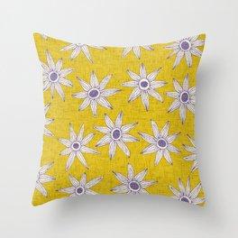 sema yellow violet Throw Pillow