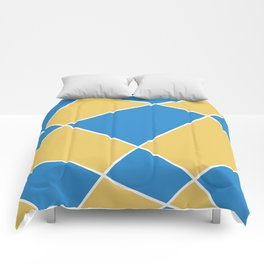 Geometric abstract - orange and blue. Comforters