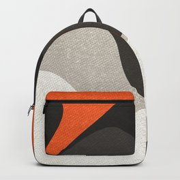 Abstract orange shapes Backpack