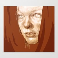 fifth element Canvas Prints featuring The Fifth Element by Doruktan Turan