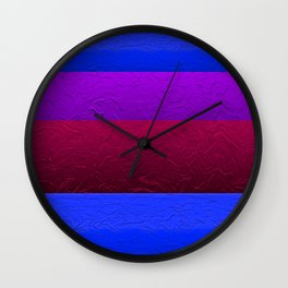Blue Purple and Burgundy Passion Wall Clock