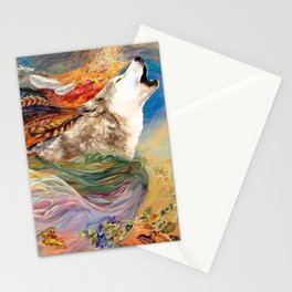 The spirit Wolf Abstract Stationery Cards