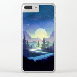 Touching the Stars Clear iPhone Case