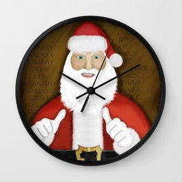 Thumbs (the Santa Claus edition) Wall Clock