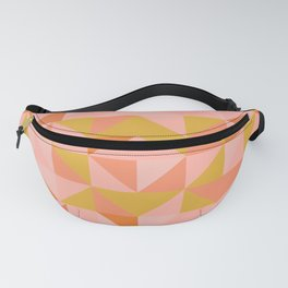 Deconstructed Triangle Pattern in Coral and Peach Fanny Pack