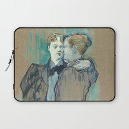 """Henri de Toulouse-Lautrec """"Deux femmes valsant"""" Laptop Sleeve"""