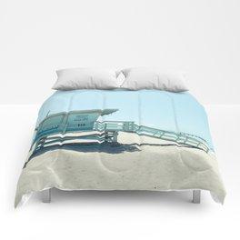Hermosa Beach Lifeguard Tower 19 Comforters