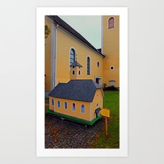 The Mini-me church of Neusserling | architectural photography Art Print