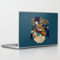 dragonball Laptop & iPad Skins featuring woodblockkakarot by Louis Roskosch
