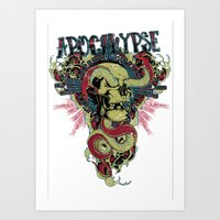 apocalypse now Art Prints featuring Apocalypse now by Tshirt-Factory
