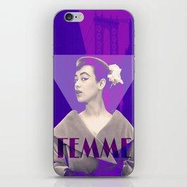 Femme Violette iPhone Skin