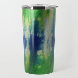 Tie Dye Blue Green 2 Travel Mug