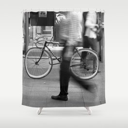 Bicycle is waiting for you Shower Curtain