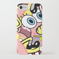 spongebob iPhone & iPod Cases featuring Spongebob by Startled Artist
