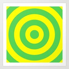 Target (Green & Yellow Pattern) Art Print