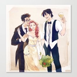 James and Lily's wedding Canvas Print