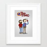 tool Framed Art Prints featuring tool time. by dann matthews