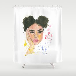 The Curly one Shower Curtain