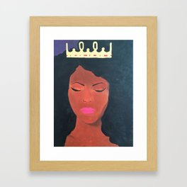 Chin Up Crown On Framed Art Print
