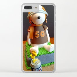 Snoopy 50 Cake Clear iPhone Case