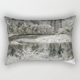 Late Winter's Snow Rectangular Pillow