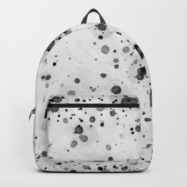 Black Ink Drops Backpack