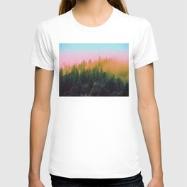 Colorful Sky Over A Fir Forest T-shirt