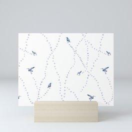 Shorebirds in Blue Mini Art Print