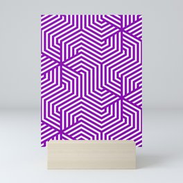 Violet (RYB) - violet - Minimal Vector Seamless Pattern Mini Art Print