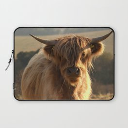 Young Highland Cow Laptop Sleeve