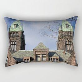 richardson towers, front. Rectangular Pillow
