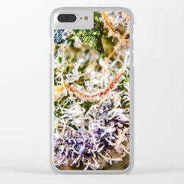 Diamond OG Indoor Hydroponic Close Up View Buds Trichomes Clear iPhone Case