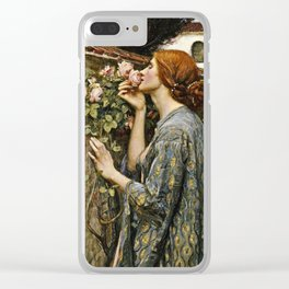 John William Waterhouse - The soul of the rose Clear iPhone Case