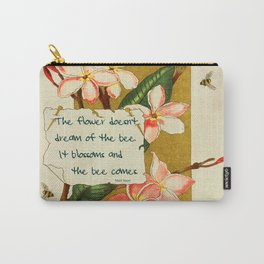 Flowers & Bees I Carry-All Pouch