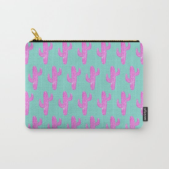 Linocut Cacti Blink Carry-All Pouch