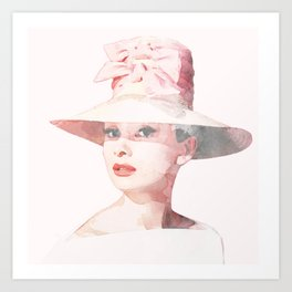 Audrey Hepburn - Watercolor Art Print