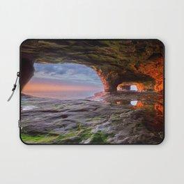 Sea Cave Sunset on Lake Superior Laptop Sleeve