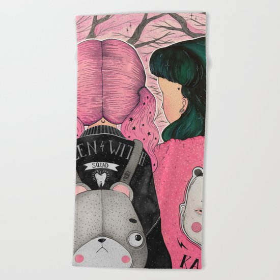 HANAMI DREAM Beach Towel