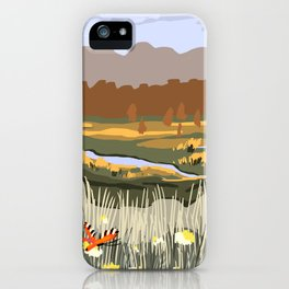 Spring Meadow View Poster iPhone Case