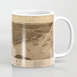 Map Of Tacoma 1885 Coffee Mug