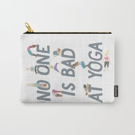 No One is Bad at Yoga Carry-All Pouch
