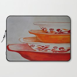Friendship and Americana Vintage Orange Pyrex Laptop Sleeve