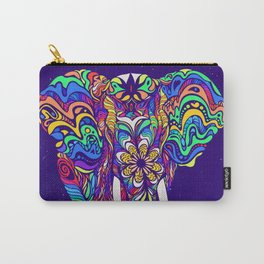 Not a circus elephant #violet by #Bizzartino Carry-All Pouch