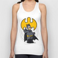 simpsons Tank Tops featuring bat-homer: the Simpsons superheroes by logoloco