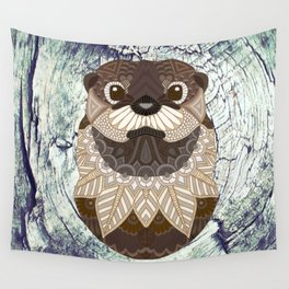 Ornate Otter Wall Tapestry