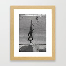 Transition into another dimension I Framed Art Print