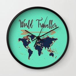 World Traveller Wall Clock