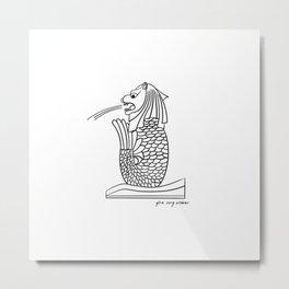 Merlion - Singapore Metal Print