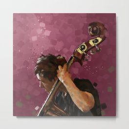 Double Bass Player Metal Print